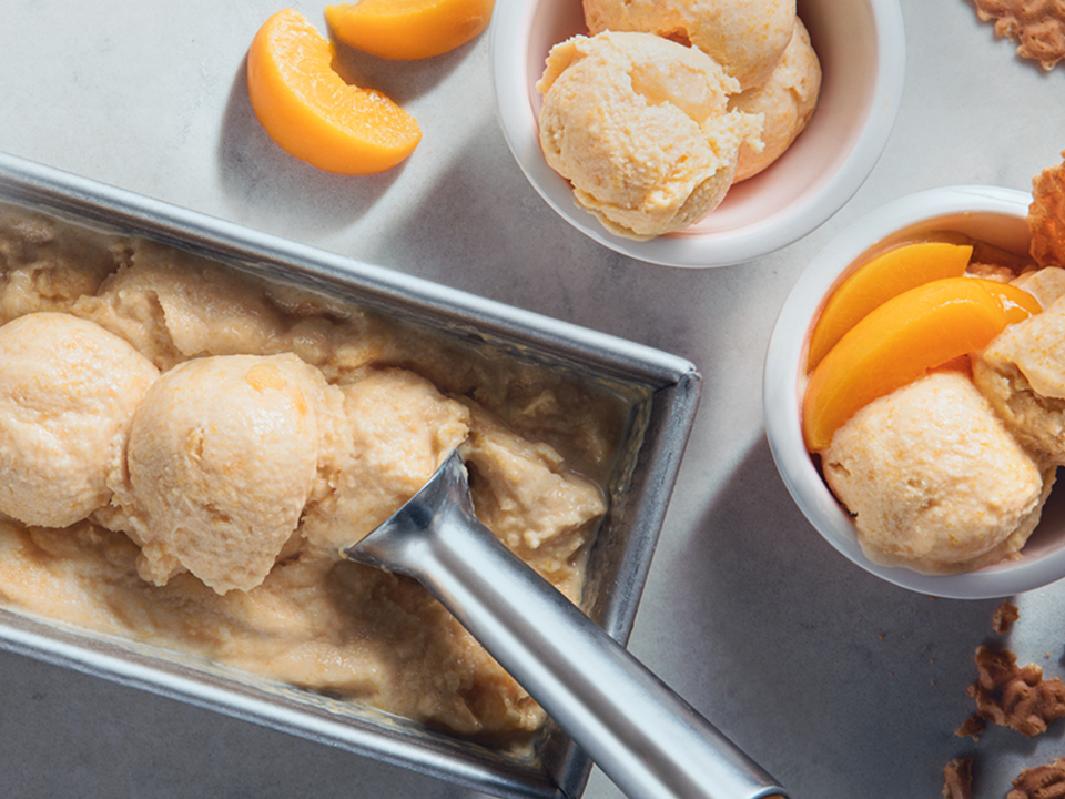 Quick California Cling Peach Soft Serve